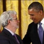 George Lucas recibe la Medalla Nacional de las Artes de manos del presidente Obama