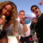 Beyoncé, Bruno Mars y Coldplay actúan en el intermedio de la Super Bowl 2016