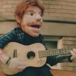 Ed Sheeran repite como una marioneta en el videoclip de Happier