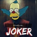 Krusty el Payaso parodia el trailer de Joker