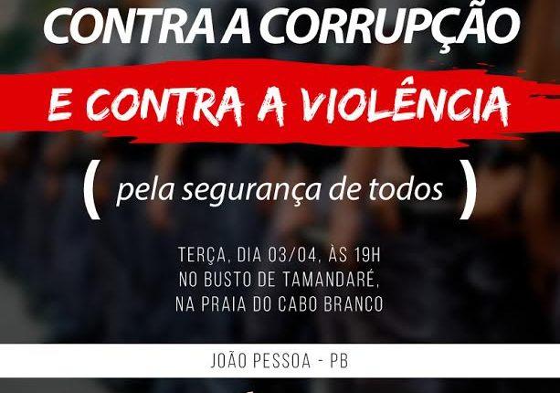 ASPOL/PB realiza Protesto Contra a Corrupção nesta terça-feira (03)