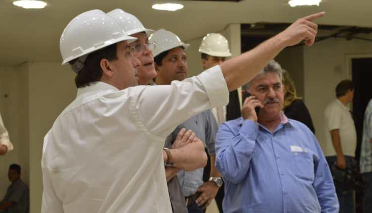 Presidente Gervásio Maia recebe governador Ricardo Coutinho em visita as obras da ALPB
