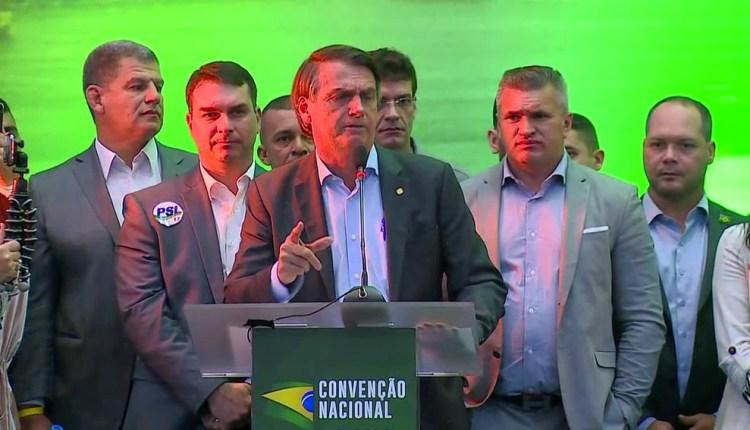 Sem definir seu vice, Bolsonaro oficializa sua candidatura à Presidência da República