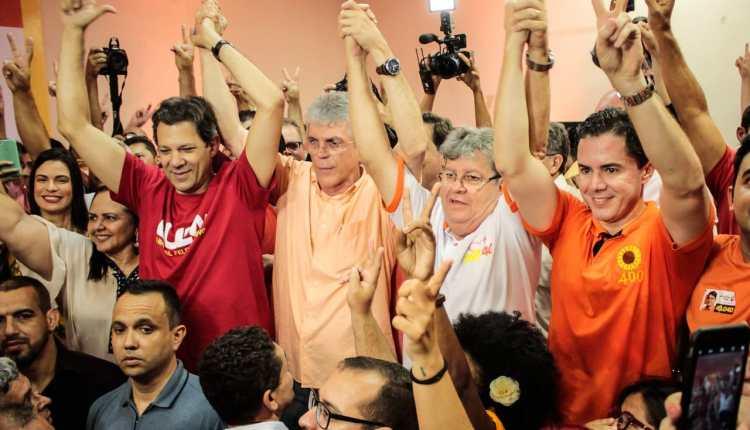 Em Campina, Haddad diz que desejo do petista é eleger João Azevêdo, Veneziano e Luiz Couto na PB