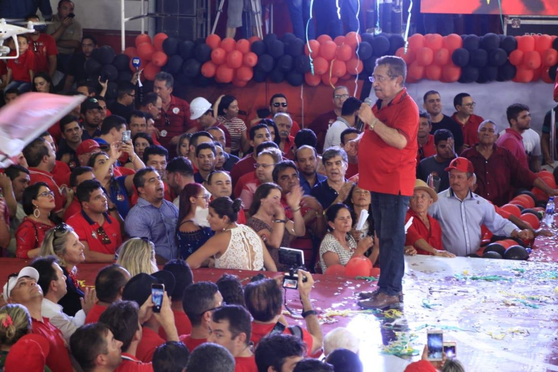 Durante convenção, Maranhão prega 'luta contra às máquinas' na sua campanha