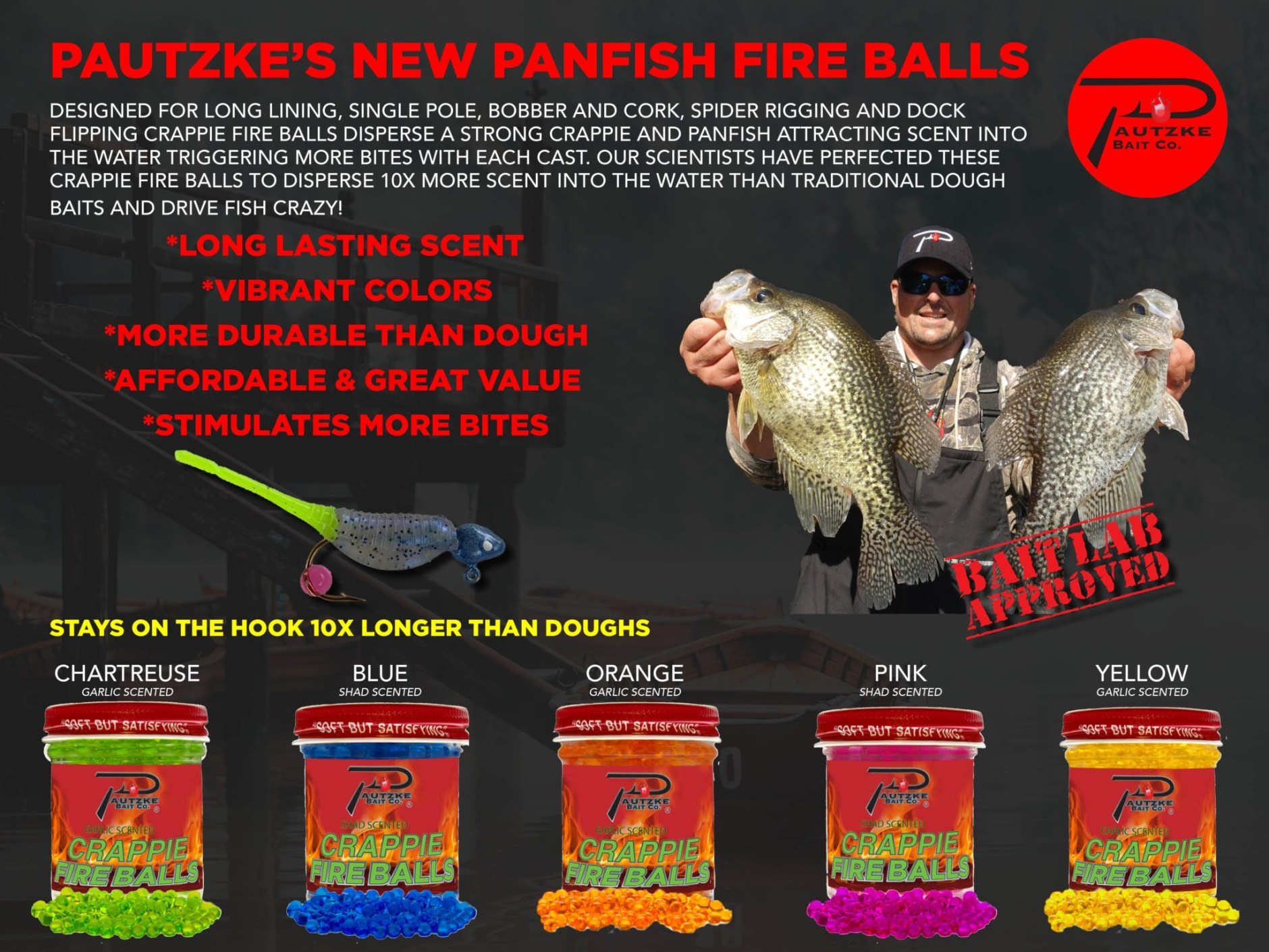 All New Pautzke Crappie Fire Balls
