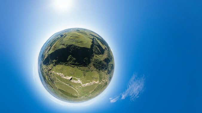 Виртуальные панорамы - воздушные шары в горах в горах - смотрите на сайте!