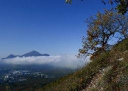 Дерево на склоне Машука. Бештау, облака, Пятигорск.