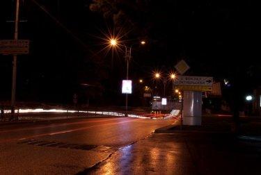 ул. Калинина ночью. Пятигорск.
