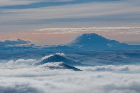 Вершина Машука, туман над Пятигорском. Павел Богданов