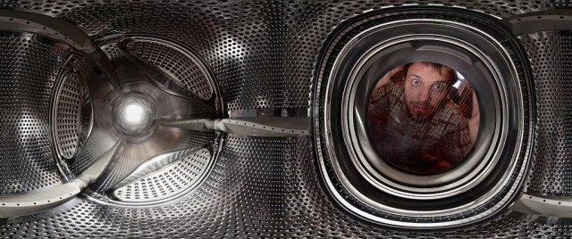 Сферическая панорама внутри стиральной машины