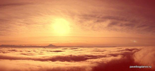 Осенний Пятигорск скрыт облаками