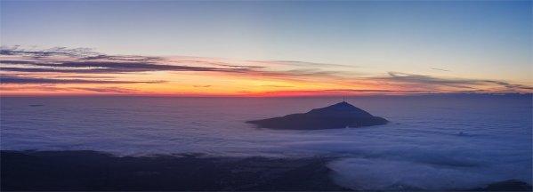 Панорама над облаками