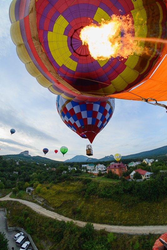 Взлёт воздушных шаров в Железноводске