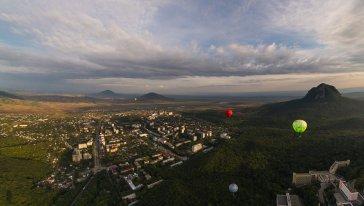 Вид на Железноводск с высоты птичьего полета