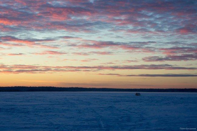 Кавголовское озеро зимой