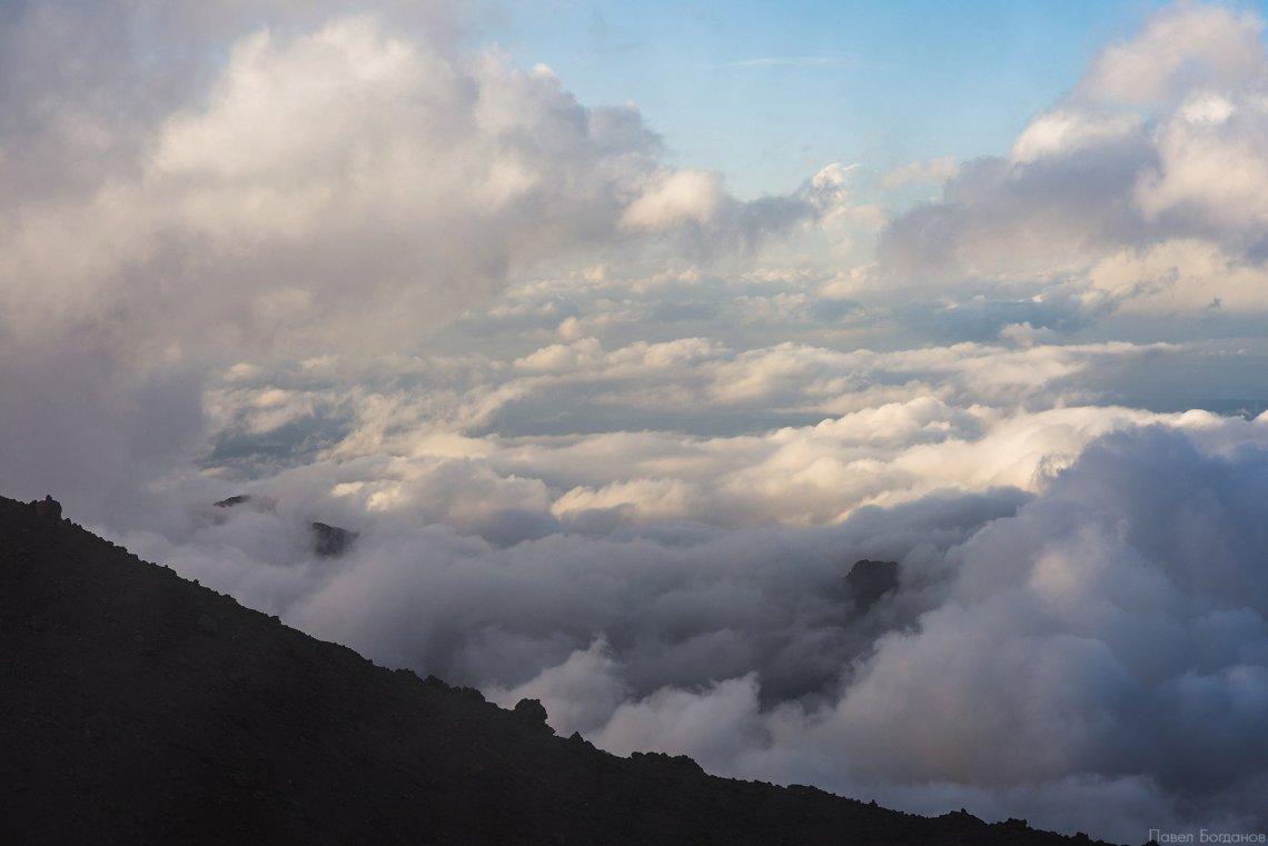 Вид на юг с Эльбруса, с высоты 3800