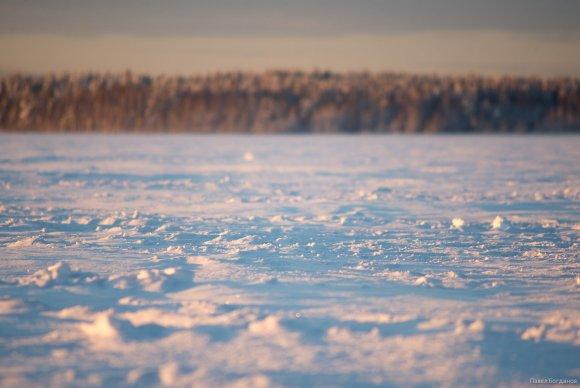 Закат на Кавголовском озере