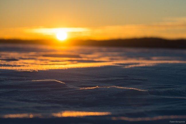 Зимний закат в Ленинградской области