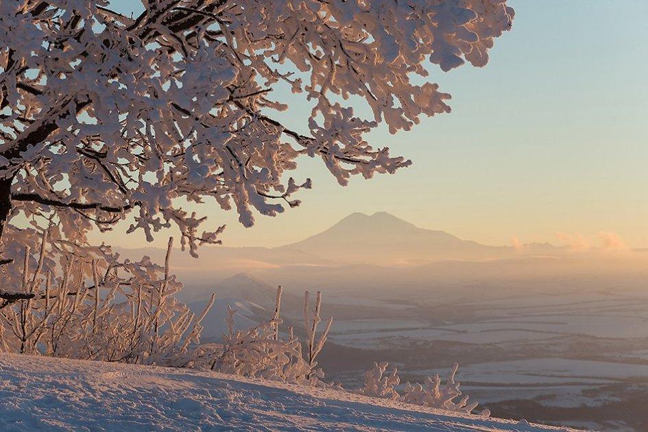 Купить фото - Эльбрус. Закат на вершине Машука