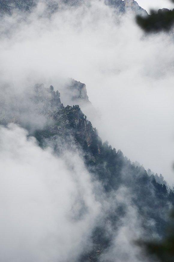 Облака в Цейском ущелье