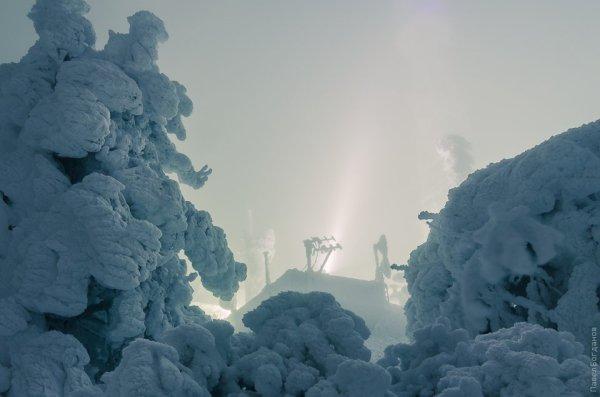 Вершина Машука зимой