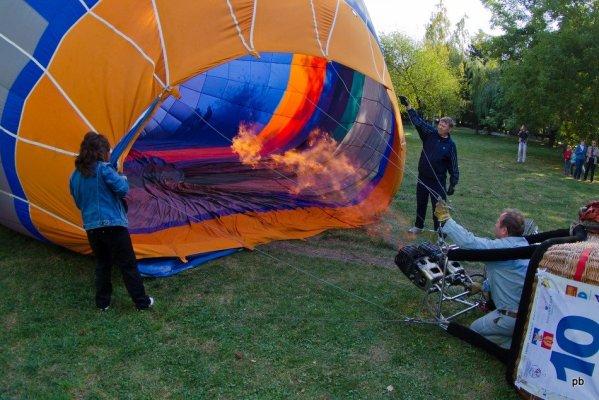 Подготовка к взлёту воздушных шаров