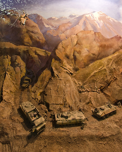 Диорама «Бой в горах Афганистана»