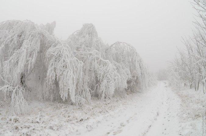 Снежная дорога на Бештау