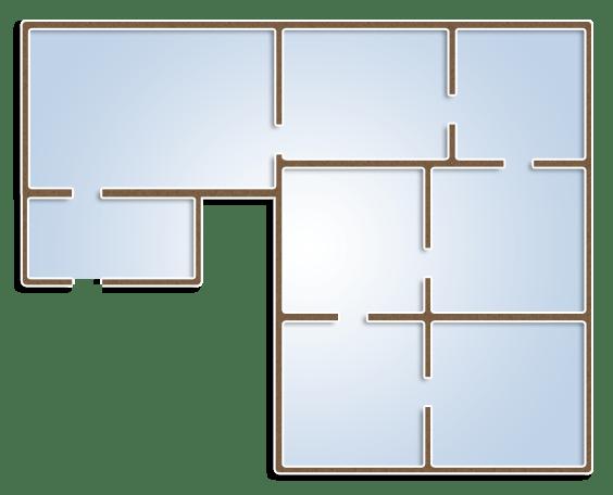 План-схема этажа для виртуального тура