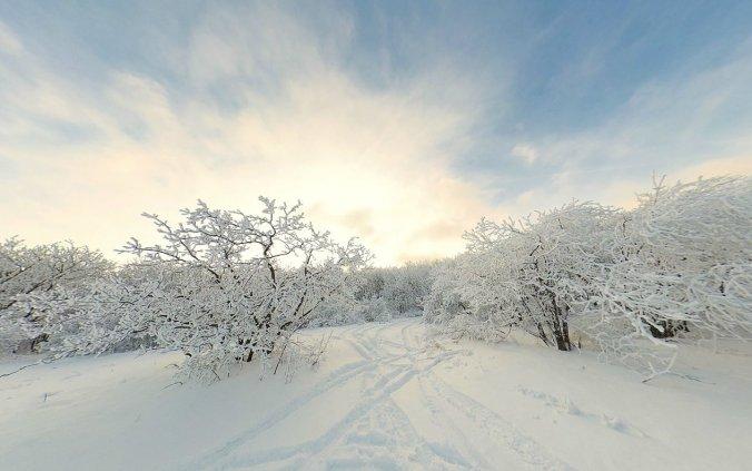 Снежный перекресток на Машуке