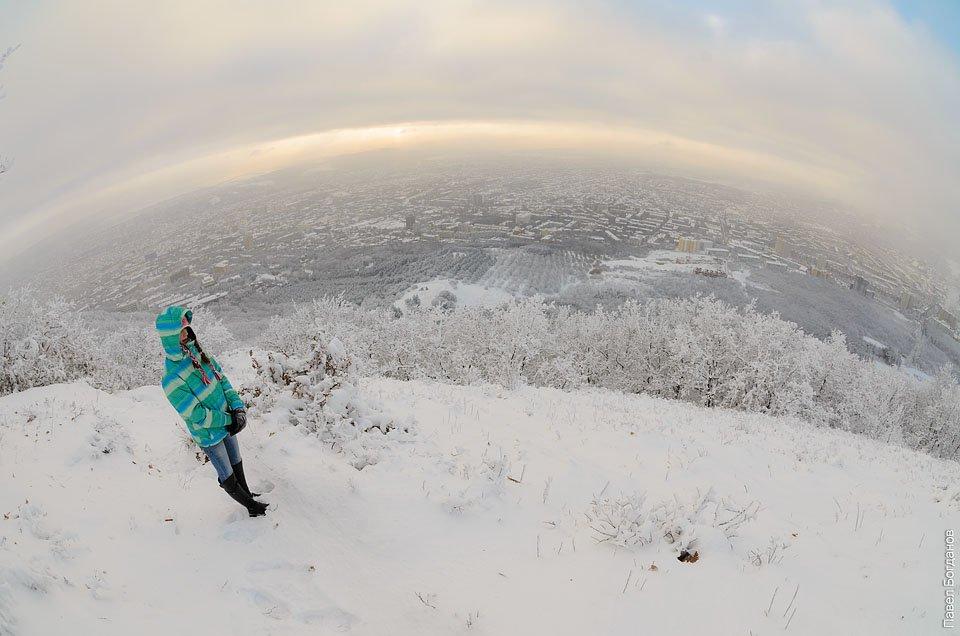 Вид с полянки на Пятигорск