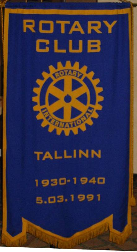 Banner of the Tallinn International Rotary Club (English speaking)