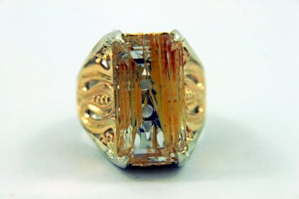 GOLDEN YELLOW - 14k Yellow Gold, Sterling Silver, and Rutilated Quartz5