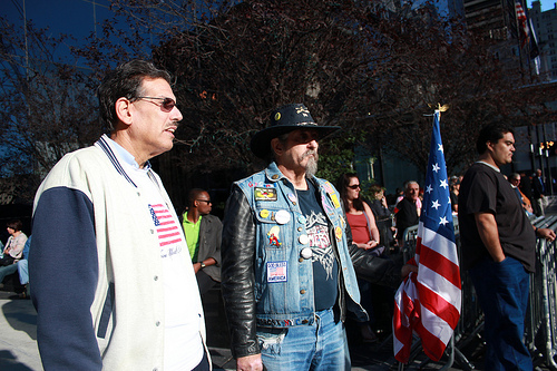 Outside the 9/11 Memorial