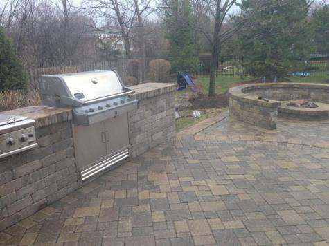 Brick Paver BBQ
