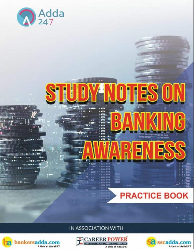 Study Notes on Banking Awareness Book by Adda247 PDF Download