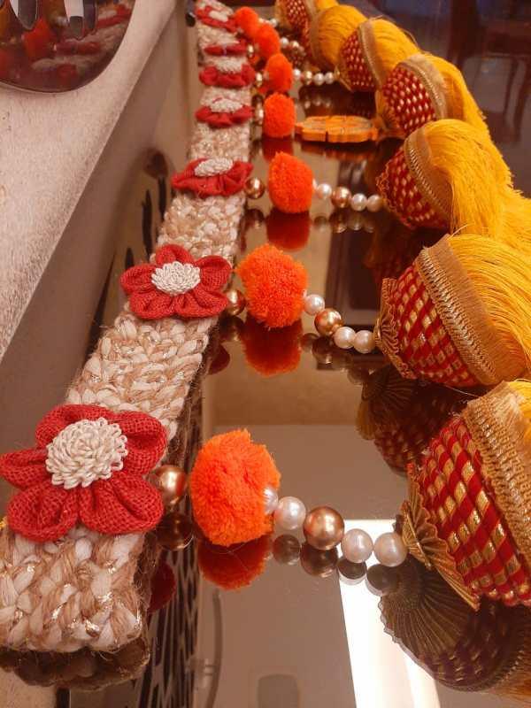 Royal Jute Floral Toran