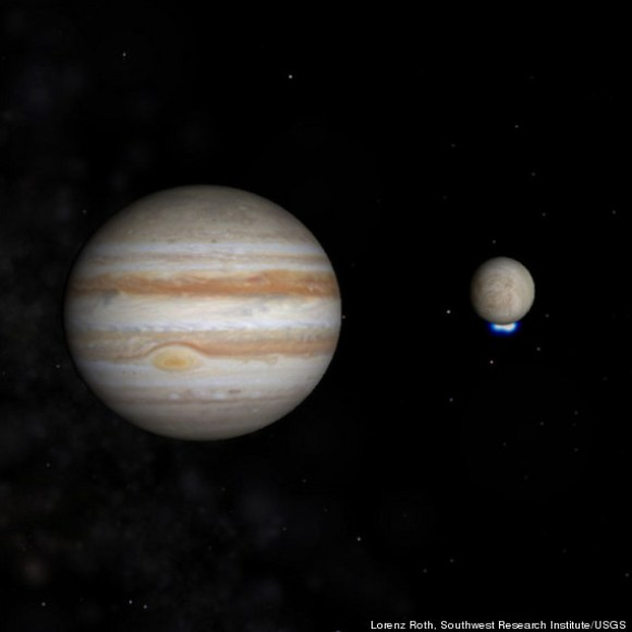 Jupiter-Europa-water geysers