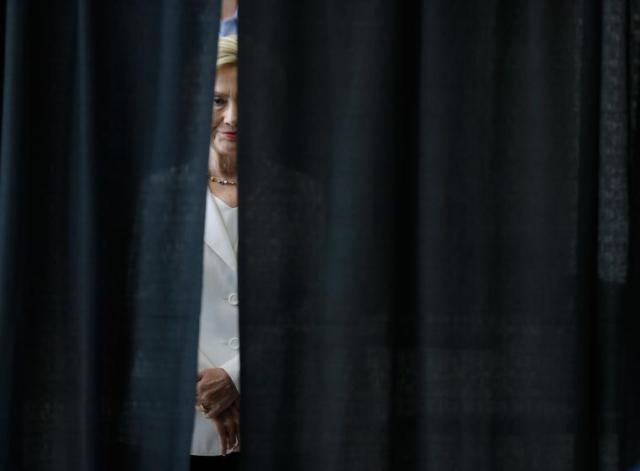 Kandidatkinja za predsednicu SAD, Hilari Klinton, uoči svog govora o problemima američkog sela, Ajova (26. avgust)