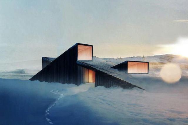 Mountain Hill: Norveška brdsko-planinska izba obavijena maglom fjordova, idealna je kao ugodan bazni kamp za skijanje po neutabanim stazama