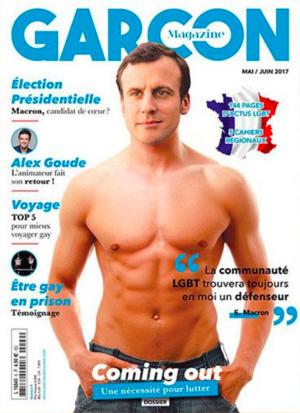 Makron na naslovki gej-magazina uoči izbora