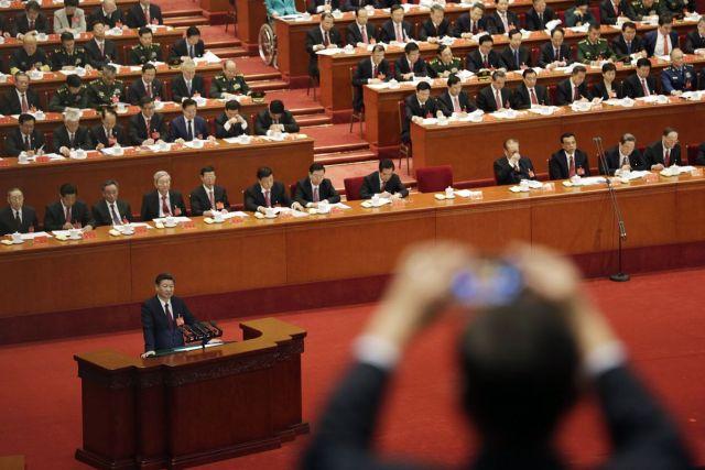 Govor kineskog predsednika Sija Đinpinga na otvaranju 19. Nacionalnog kongresa Komunističke partije Kine u Pekingu 18. oktobra (Qilai Shen/Bloomberg)