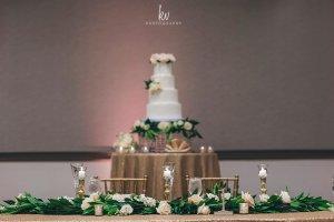 elegant wedding head table
