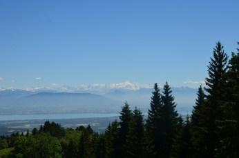 Vue du mont Blanc et du lac Léman