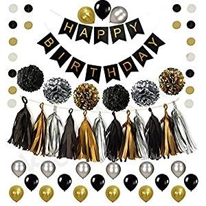 affiche anniversaire ballon : decoration table anniversaire bebe fille