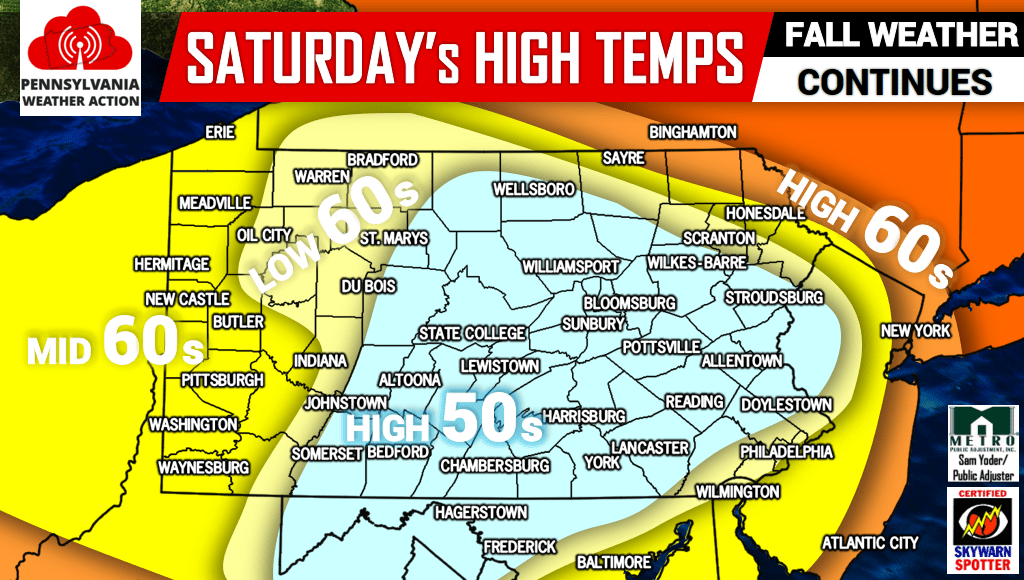 Chilly Start To Labor Day Weekend As Early Fall Looms PA Weather - Us weather map weekend