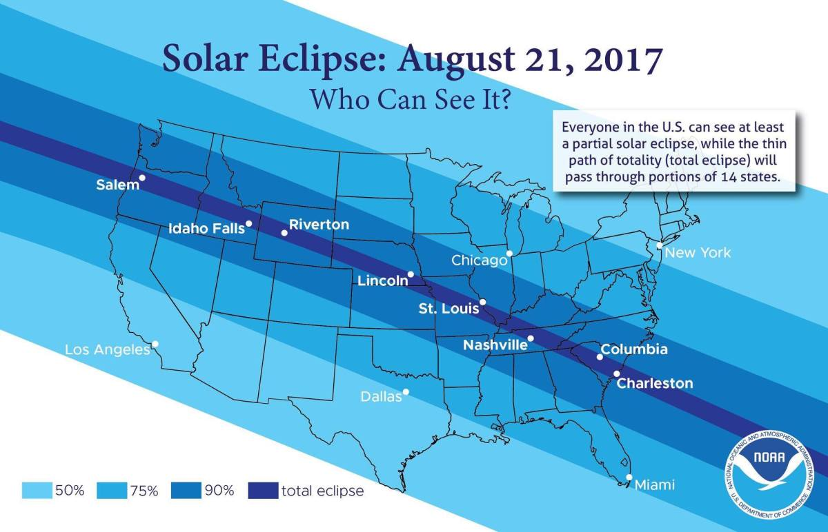First Total Solar Eclipse Since 1979 To Occur August 21st Pa