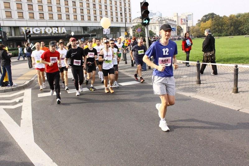 Maraton Warszawski - plac Piłsudskiego