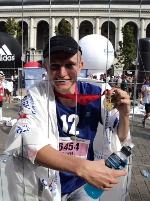 Maraton Warszawski - z medalem